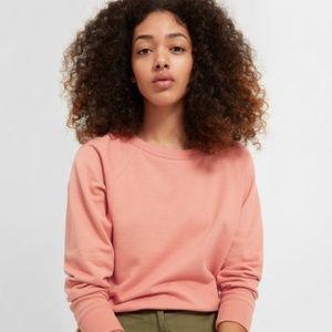 Everlane Pale Orange Classic Crew Neck Sweater